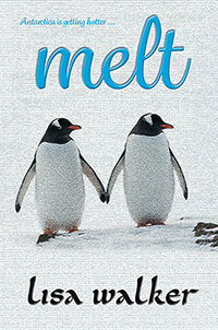 Melt cover: two penguins holding flippers